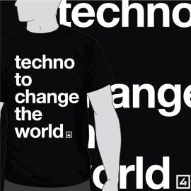 Camiseta Techno to change the world