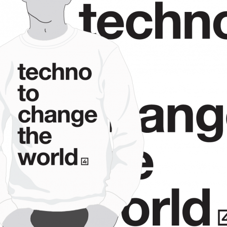 Sudadera Techno to change the world