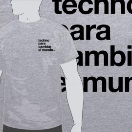 Camiseta Techno para Cambiar el Mundo Escudo